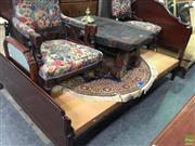 Sale 8601 - Lot 1066 - Timber Double Bed