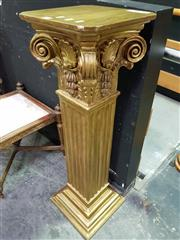 Sale 8657 - Lot 1001 - Ornate Gilt Pedestal