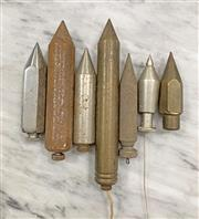Sale 8951P - Lot 347 - Collection of 7 Various Plumb Bobs, heavy corrosion. (various sizes)