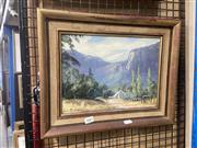 Sale 8888 - Lot 2083 - John Emmett Old Pub at Newnes, Wolgan Valley oil on board, 32 x 40cm (frame), signed lower left