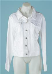 Sale 9027F - Lot 58 - An Eileen Fisher white denim jacket. (new with tags) Size L