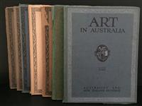 Sale 8176A - Lot 65 - Art in Australia. First Series. Nos. 1, 3, 4, 5, 6, 7 and 9. Art paper, artistic full page ads and colour tip-ins