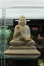 Sale 8226 - Lot 53 - Alabaster Figure of Buddha