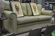 Sale 8307 - Lot 1051 - Upholstered Green 3 Seater Lounge
