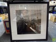 Sale 8407T - Lot 2082 - Pair of Decorative Photographic Prints of Sydney Harbour Bridge c1950s, frame size: 69.5 x 69.5cm