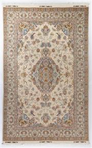 Sale 8800C - Lot 39 - A Persian Tabriz Very Super Fine Wool And Silk Pile, 306 x 195cm