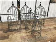 Sale 8889 - Lot 1356 - Set of 5 Wire Cages
