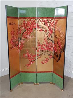 Sale 9174 - Lot 1074 - Chinese four panel dressing screen (h:183 x w:160cm)