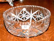 Sale 8015A - Lot 82 - A large hand cut lead crystal star pattern bowl