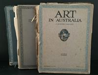 Sale 8176A - Lot 66 - Art in Australia. First Series. Nos. 2, 8, 10 and 11. Art paper, artistic full page ads and colour tip-ins. Some damage to paper spi...