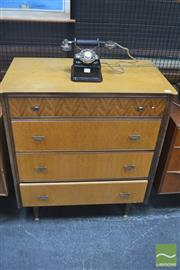 Sale 8275 - Lot 1033 - Birdseye Maple Retro Chest