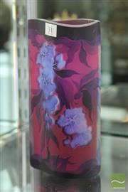 Sale 8256 - Lot 31 - Cameo Vase with Purple & Blue Flowers Signed Galle