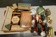 Sale 8362 - Lot 2393 - Collection of sundries incl. board games, ceramics, dolls head, cards etc