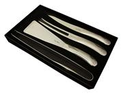 Sale 8372A - Lot 38 - Laguiole by Louis Thiers Organique 4-Piece BBQ Set in Polished Finish RRP $320
