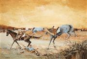 Sale 8558 - Lot 506 - Ric Elliot (1933 - 1995) - Stockmen 37 x 52.5cm