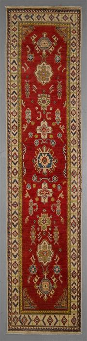 Sale 8545C - Lot 26 - Afghan Kazak Runner 340cm x 78cm
