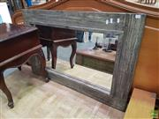 Sale 8593 - Lot 1050 - Modern Rustic Timber Framed Mirror (110 x 71cm)