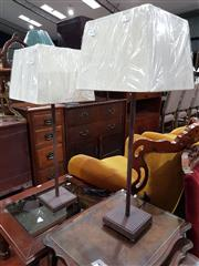 Sale 8740 - Lot 1342 - Pair of Tall Metal Table Lamps (5796)