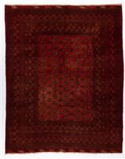 Sale 8780C - Lot 278 - An Afghan Kondoosi 100% Wool On Cotton Foundation And Natural Dyes, 260 x 206cm