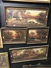 Sale 8861 - Lot 2039 - Group of Four Early Landscape Paintings by Michael Coughlan