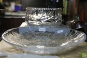 Sale 8362 - Lot 255 - Kosta Boda Art Glass Floral Plate with a Bohemian Crystal Bowl