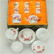 Sale 8399 - Lot 11 - Chairman Mao 20th Century Fine Porcelain Teaset for Six Persons