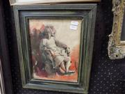 Sale 8437 - Lot 2021 - Robyn Easter (XX) - Seated Woman 24 x 19cm