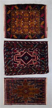 Sale 8499C - Lot 83 - 3 x Persian Baluchi 55cm x 45cm