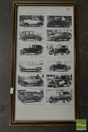 Sale 8503 - Lot 2058 - Ford Early Models Print