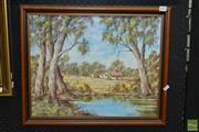Sale 8503 - Lot 2073 - Country Landscape signed S. Wheeler