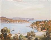 Sale 8575 - Lot 572 - James R Jackson (1882 - 1975) - Looking out to Harbour 38.5 x 49cm