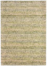 Sale 8651C - Lot 49 - Colorscope Collection; NZ Wool and Pure Silk - Beige/Green Geometrics Rug, Origin: China, Size: 160 x 230cm, RRP: $1899