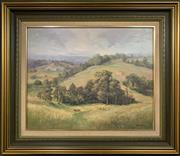 Sale 8668 - Lot 2006 - Fleur Priestly - The Hunter Valley, oil on board, 60 x 71cm (frame size), s.l.r