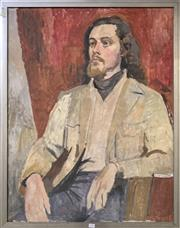 Sale 8678 - Lot 2036 - Artist Unknown The Gentleman, oil on board, 96 x 75cm, unsigned -