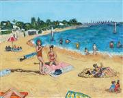 Sale 8755A - Lot 5019 - Stanley Perl - A Day at the Beach II 40.5 x 50.5cm