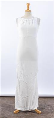 Sale 8891F - Lot 73 - A Hugo Boss white crepe full-length sundress, approx size 10