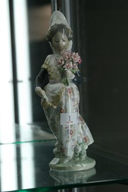 Sale 7914 - Lot 1 - Lladro Figure of a Girl with Flowers