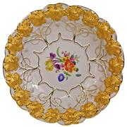 Sale 7978 - Lot 17 - Meissen Plate Painted with Flowers
