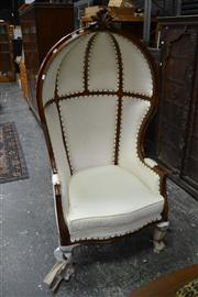 Sale 8013 - Lot 1432 - Timber Framed Upholstered Chair on Cabriole Legs