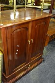 Sale 8093 - Lot 1336 - Mahogany Entertainment Cabinet