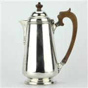 Sale 8214 - Lot 71 - English Hallmarked Sterling Silver George V Hot Water Jug