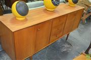 Sale 8275 - Lot 1063 - Good Quality Vanson Teak Sideboard with Concertina Doors