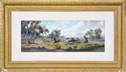 Sale 8339A - Lot 567 - James Alfred Turner (1850 - 1908) - Mustering 20 x 51.5cm