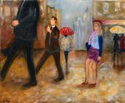 Sale 8349A - Lot 63 - Stanley Perl (XX - ) - Walking in the City 61 x 76cm