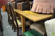 Sale 8392 - Lot 1059 - Oak Extending Draw-Leaf Table (240cm)