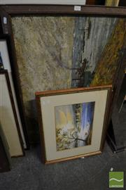 Sale 8471 - Lot 2042 - Group of (3) Original artwork by Various Unknown Artists (framed/various sizes, signed)