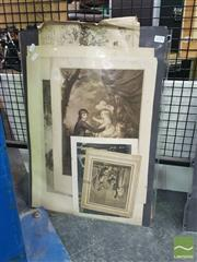 Sale 8548 - Lot 2170 - A Collection of Assorted Early Works on Paper incl. original watercolours, etchings, engravings and lithographs (various sizes)