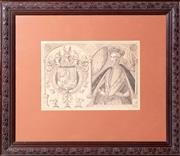 Sale 8640 - Lot 2090 - Framed Print, The High and Mightie Prince Thomas Lord Howard Duke of Norfolk, size of impression 25 x 36cm.