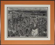 Sale 9024 - Lot 2065 - A collection of prints depicting New York city land marks by S. Faxxberg -