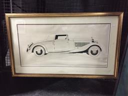Sale 9118 - Lot 2040 - David Wood Roadster 1982, screenprint, frame: 56 x 95 cm, signed and dated
